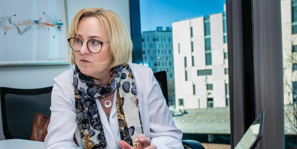 Torsdag legger Helga Aune fram de nye forslagene til universitets og høyskolelov. Foto: Siri Øverland Eriksen