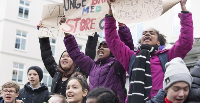 Studentene streiker for fremtiden