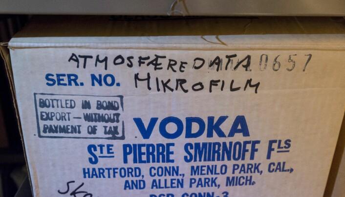 Atmosfæredata/vodka på Geofysens loft. Foto: Tor Farstad
