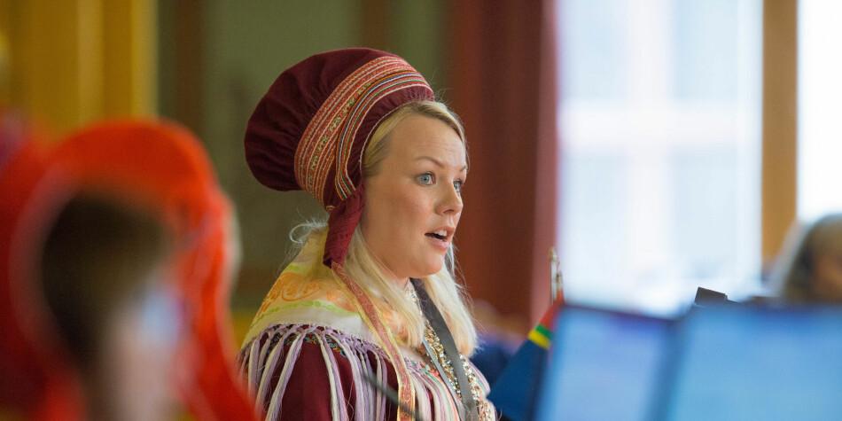 Laila Susanne Vars stiller som rektorkandidat ved Samisk høgskole. Foto: Stortinget
