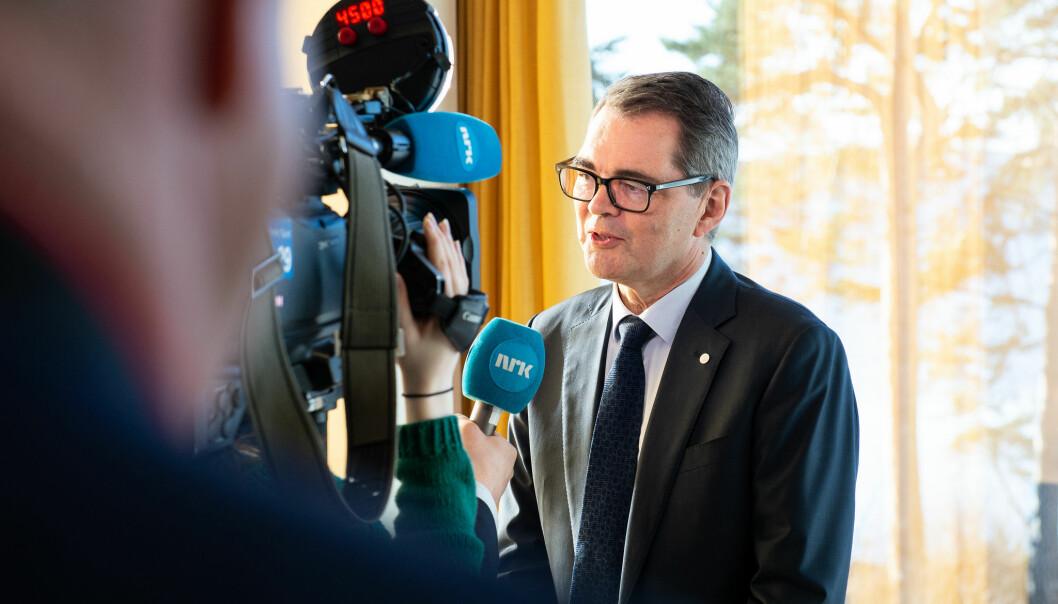 Mandag 18. mars varslet Svein Richard Brandtzæg at han går av som konsernsjef i Hydro i mai. Foto: Hydro