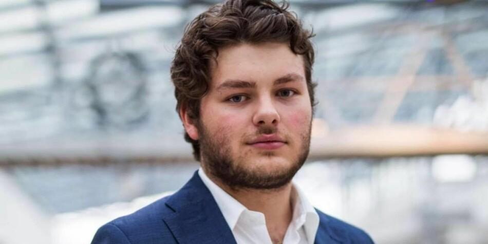 Jonas Økland, er eksternansvarleg for studentforeininga ved BI Oslo, (SIO). Foto: SBIO