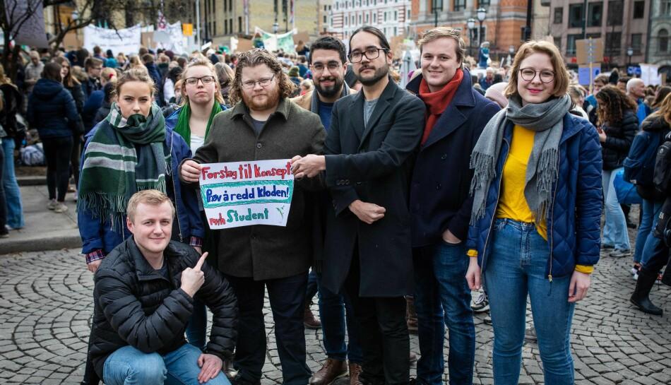 Norsk studentorganisasjon var til stede på fredagens klimastreik. Det handler jo om vår framtid, sier leder av NSO, Håkon Randgaard Mikalsen.