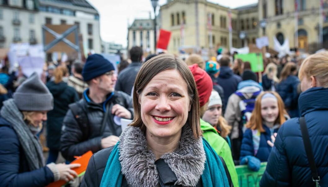 — Når en hel generasjon begynner å si i fra om at «dere ødelegger framtida vår», må vi ta ansvar, sier Byråd for byitvikling i Oslo, Hanna E. Marcussen (MDG).