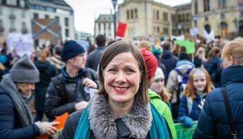 — Jeg er her for å se på engasjementet, sier MDG-politiker Hanna Marcussen. Foto: Siri Øverland Eriksen
