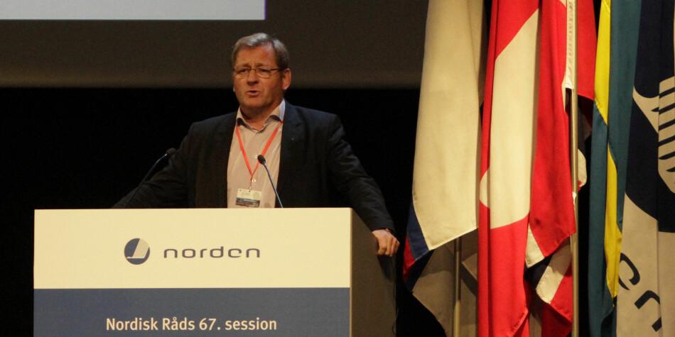 Jorodd Asphjell (Arbeiderpartiet) hos Nordisk råd i 2015. Foto: Stortinget