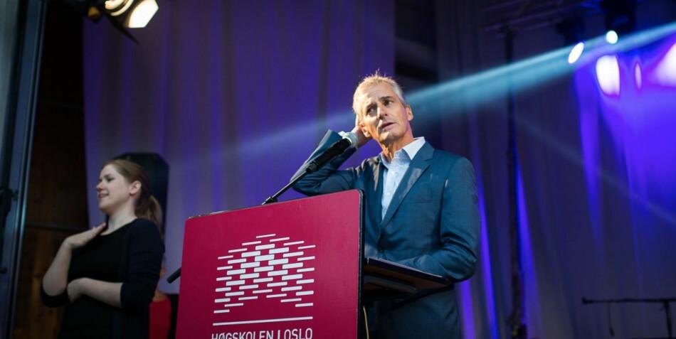 Jonas Gahr Støre hadde sannsynligvis fått statsministerstolen dersom studentene hadde bestemt, viser en ny undersøkelse. Foto: Skjalg Bøhmer Vold