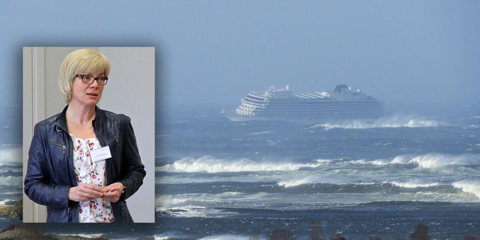 Cruiseskipet Viking Sky var i store problemer forrige helg. Men ekspertene ved Universitetet i Sørøst-Norge ble bedt om å kontakte instituttleder Anne Kari Botnmark dersom de fikk henvendelser fra mediene. Foto: USN/NTB Scanpix