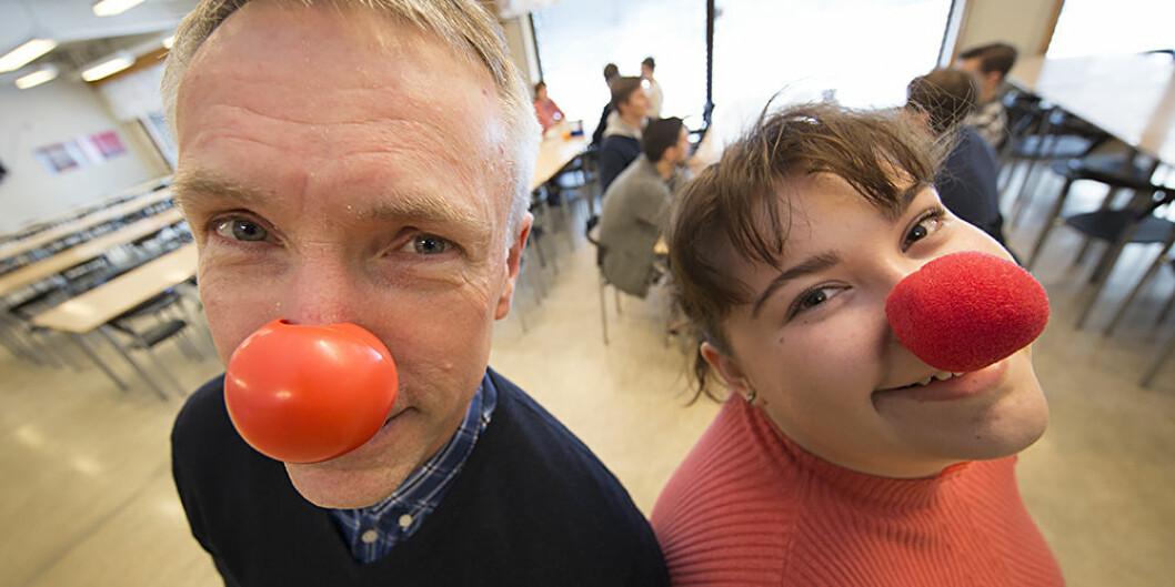 UiT Norges arktiske universitet søker klovner til forskningsprosjekt. I alle fall i dag — 1. april. Foto: Brøndbo, Stig / UiT