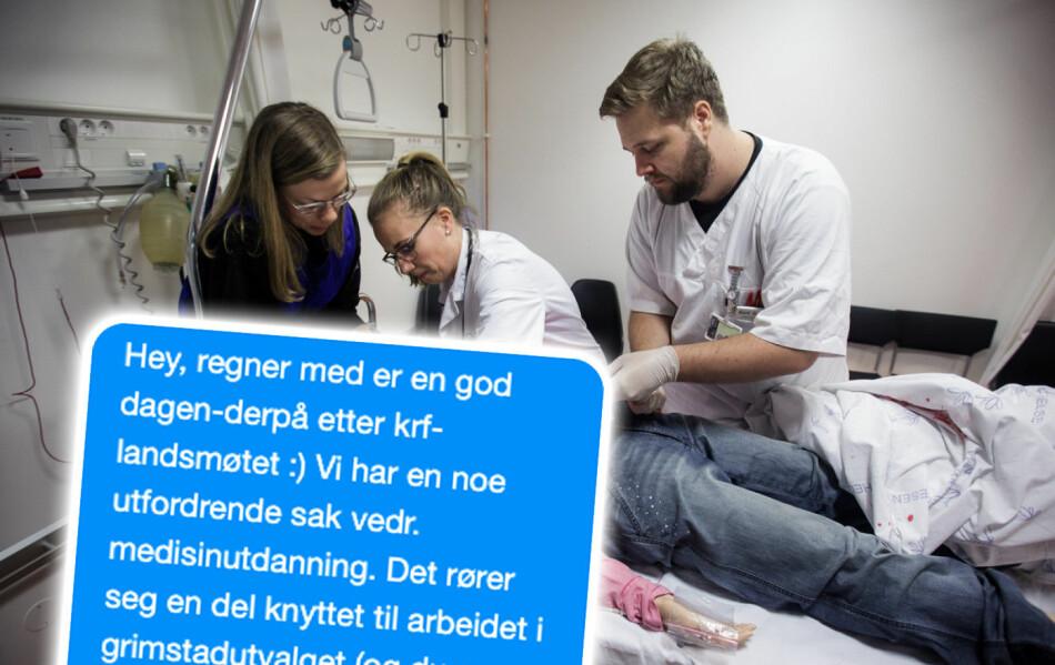 Blir det medisinutdanning i Stavanger? Det antyder stabs- og kommunikasjonssjef ved universitetssykehuset i Stavanger i tekstmelding til statsråd Iselin Nybø. Arkivfoto: Nicklas Knudsen