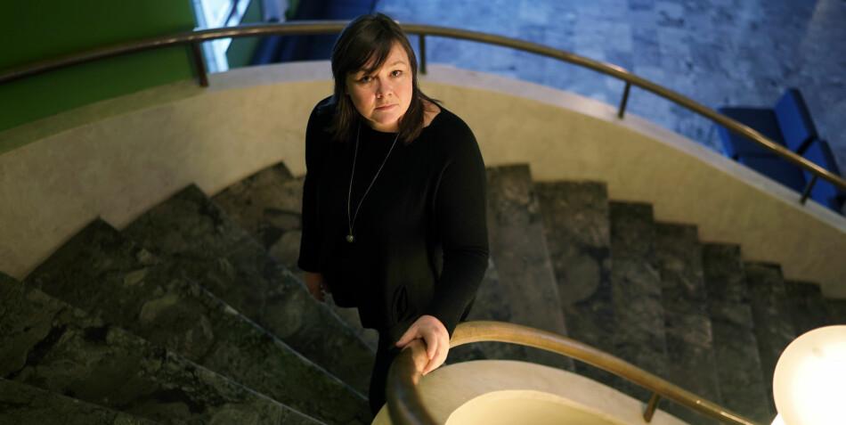 Ellen Dalen, 2. nestleder NTL, anbefaler regjeringen å legge rapporten som anbefaler at universitetene skal g fra seg eiendommene sine i en skuff. Foto: Ketil Blom Haugstulen