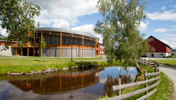 Politihøgskolens campus på Kongsvinger huset bachelorstudenter fram til juni 2018. Nå er det kun etter- og videreutdanning på Sæther gård. Foto: PHS