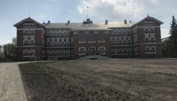 Den nye baksiden av den kjente Urbygningene soms kal vende mot fellesbygget og Veterinærbygget.