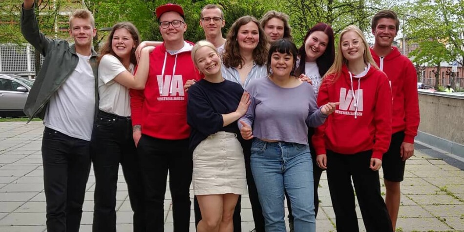 Venstrealliansen ble klart størst i studentvalget ved Universitetet i Oslo. Foto: VA