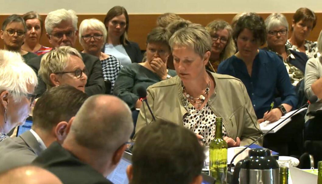 Rektor Hanne Solheim Hansen og Nord universitet risikerer å miste universitetsstatusen. Foto: Hilde Kristin Strand
