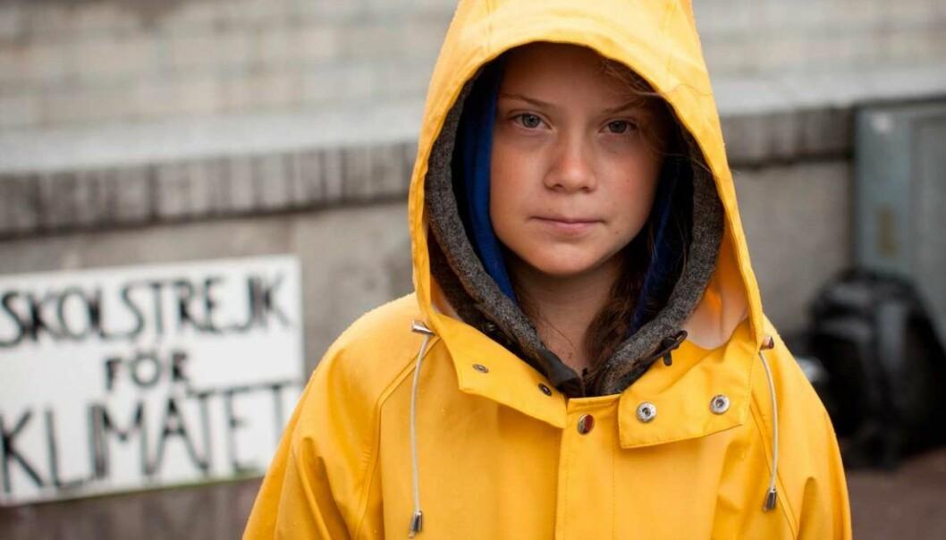 Greta Thunberg er en svensk klimaaktivist og skoleelev som ble kjent i august 2018 da hun satt utenfor Riksdagshuset i Stockholm med plakaten «Skolstrejk för klimatet». — Samtidig som vi klapper oss selv på ryggen for all den flotte forskningen som gjøres på klimafeltet. Hvordan har vi samvittighet til dette, spør Mari Devik. Foto: Anders Hallberg