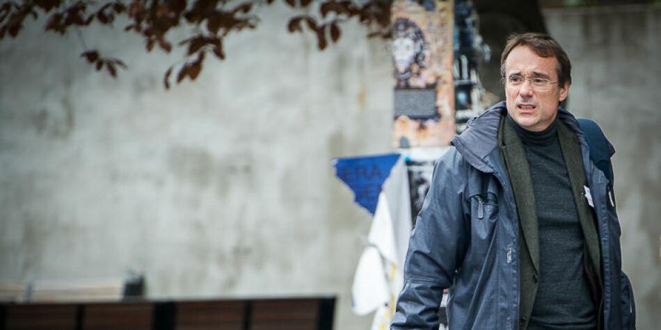 Johann Roppen, rektor ved Høgskulen i Volda, får fornyet kritikk fra Forskerforbundet fordi han ikke tidligere har grepet tak i konflikten på Avdeling for mediefag ved høgskolen. Foto: Skjalg Bøhmer Vold