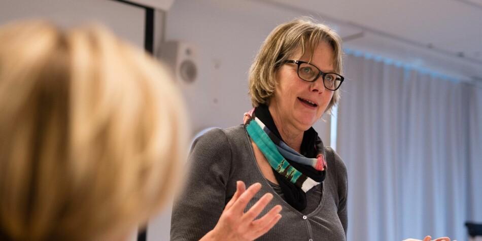 Styret ved OsloMet, under ledelse av Trine Syvertsen, skal avgjøre klagen på oppsigelsen av en ansatt på styremøtet onsdag 8. mai - bak lukkede dører. Foto: Petter Berntsen