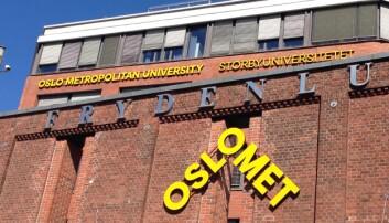 Klageren er ansatt i fellesadministrasjonen ved OsloMet. Foto: Nils Martin Silvola