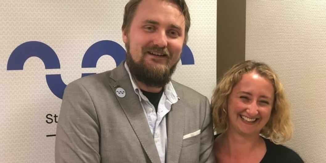 Kim Andrew Hellevammen og Karoline Lie, nyvalgte studenttillitsvalgte på USN. Foto: SDSN