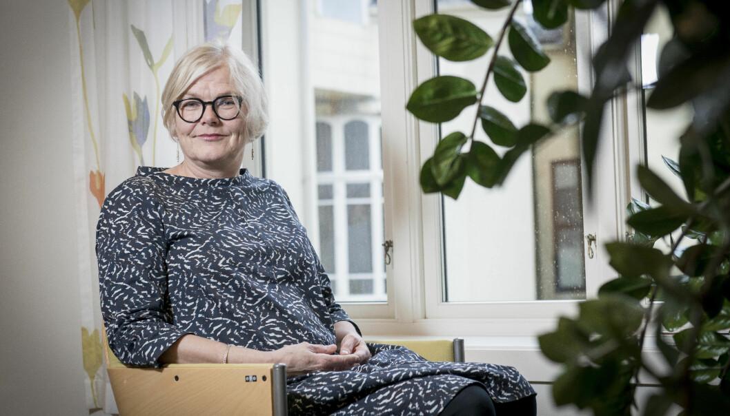 NSD-direktør Vigdis Kvalheim er ikkje uroleg etter å ha sett rapporten om korleis NSD bør organiserast i framtida. — Det er ikkje noko revolusjonerande i rapporten, seier ho. Foto: Tor Farstad