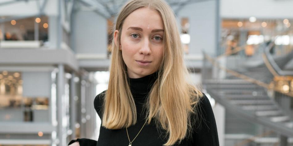 Pia Ottilia Danielsen er påtroppende medlem av sentralstyret i Norsk studentorganisasjon og er redd for at organisasjonens fokus på klima kan kvele studentsakene som ellers skal være fanesaker. Foto: SBIO Media