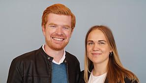 De nye studentrepresentantene i styret på UiS, Magne Bartlett og Cathrine Johanne Sønvisen. Foto: StOr