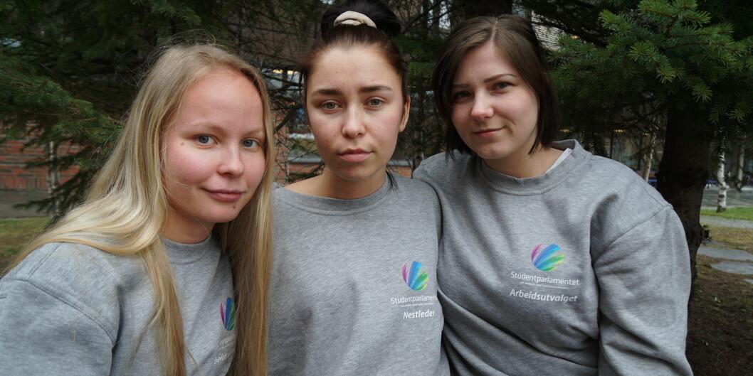 Det finnes ikke et mer alvorlig tema for studentene enn klimakampen, skriver Martine Tennholm, Marie Sivertsen og Tonje Nilsen. Foto: SP UiT