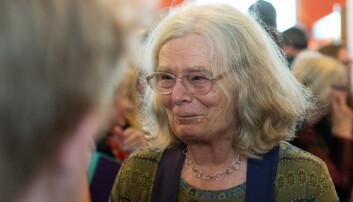 Karen Uhlenbeck sier prisen er uventet, men hun er glad for å få den. Foto: Ketil Blom Haugstulen