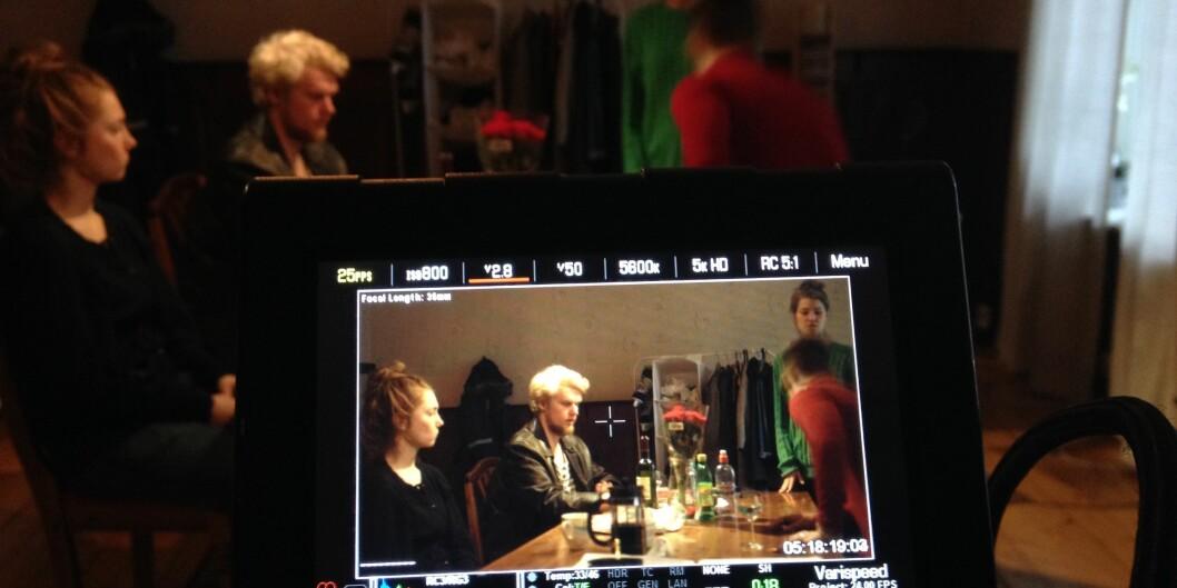 Fra prosjektet Blank Løgn med Pål Jackman som regi. Verdalslaboratoriet, Nord universitet. Foto: Lukasz Zamaro