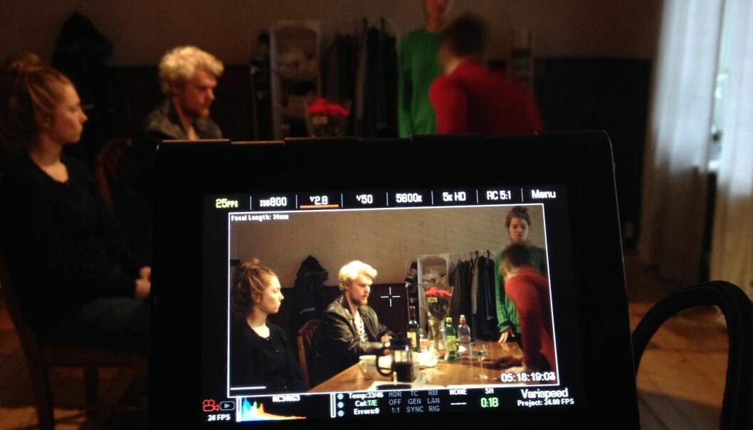 Bilde fra filmfotograf Lukasz Zamaro. Fra prosjektet Blank Løgn med Pål Jackman som regi.