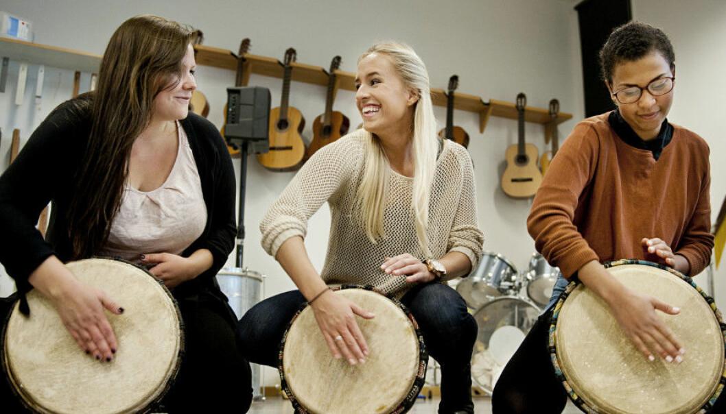 Sang er ikke lenger med i læreplanen for norskfaget, som er på høring fram til 18. juni. Foto: Benjamin Ward/OsloMet