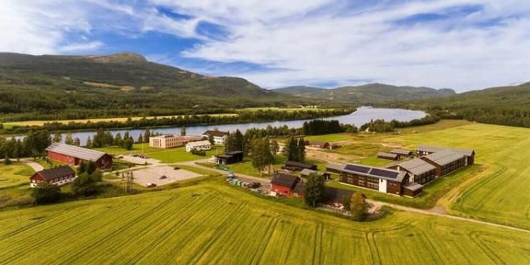 Evenstad er en av campusene ved Høgskolen i Innlandet. Her var Harry P. Andreassen dekan i en årrekke. Foto: HINN