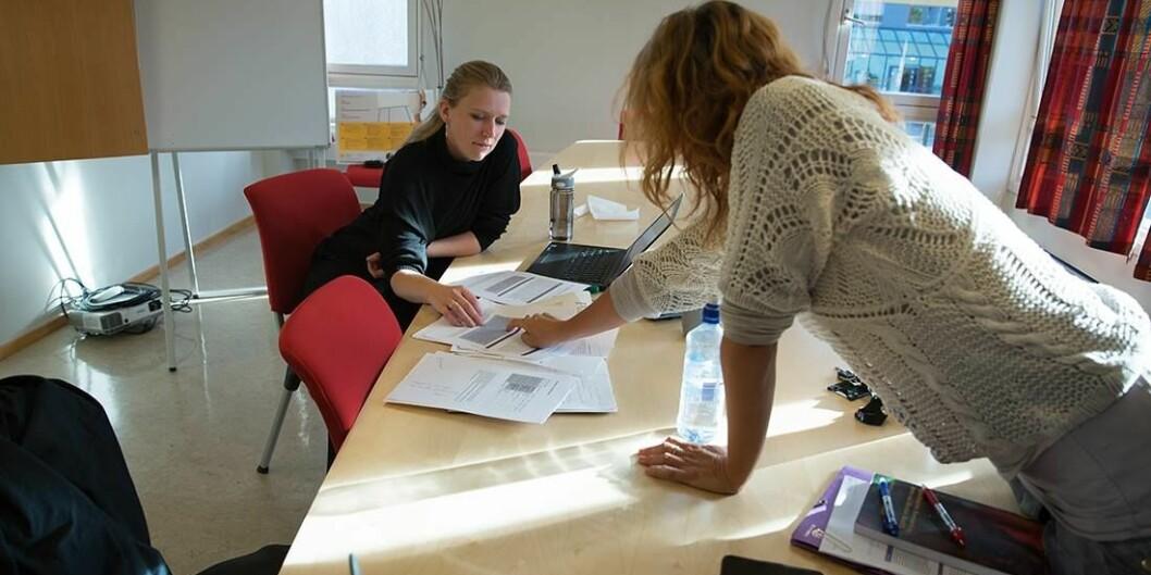 Fra workshop for stipendiater. Foto: Brynhild Bye-Tiller