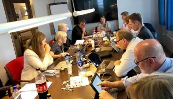 Unios forhandlingsdelegasjon, leder av Guro Elisabeth Lind i Forskerforbundet er i innspurten av årets lønnsoppgjør. Foto: Unio