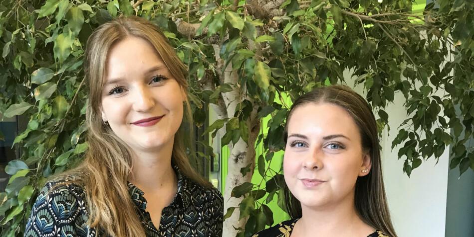 Nytt arbeidsutvalg i Velferdstinget Vest: Anette Arneberg og Line Korsmo. Foto: Privat