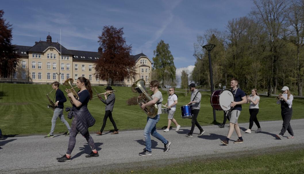 Levanger er med sine 2000 studentar er Nord universitets nest største studiestad. Foto: Paul S.Amundsen