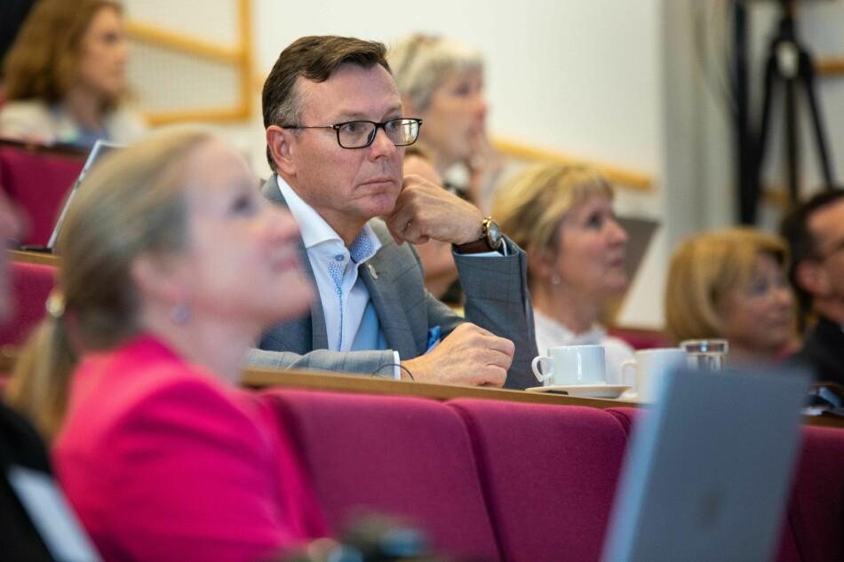 Dag Rune Olsen vil i 2021 ha leia Universitetet i Bergen som rektor i åtte år, og kan då ikkje sitte lengre. Foto: Siri Øverland Eriksen