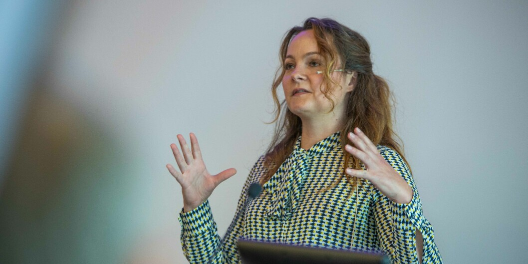 Statssekretær Rebekka Borsch skal innlede under digitaliseringskonferansen i Trondheim. Foto: Siri Øverland Eriksen