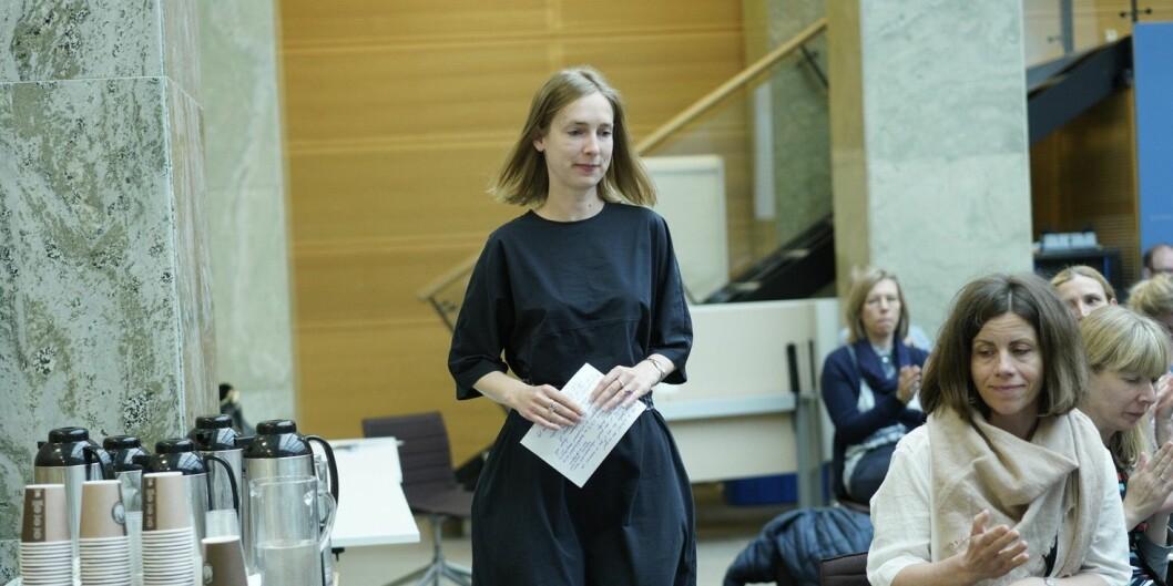 — Jeg er veldig glad for at alle studenter fra i dag skal ha tilgang på et studentombud, sier statsråd Iselin Nybø. Foto: Ketil Blom Haugstulen