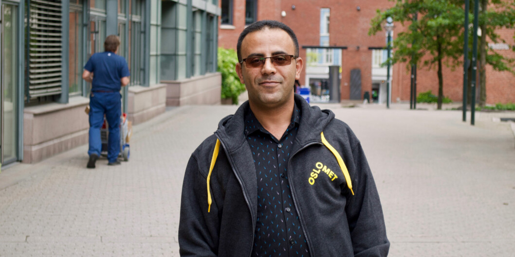 Abdulghani Muthanna compares leadership he has experienced at OsloMet with his experiences on other institutions. Foto: Øystein Fimland