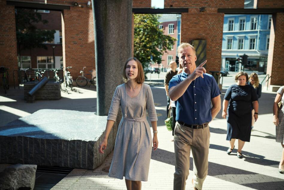 OsloMet-rektor Curt Rice sier han er fornøyd med de nye studieplassene, og at statsråd Islein Nybø vil satse på tegnspråkutdanning. Foto: Ketil Blom Haugstulen