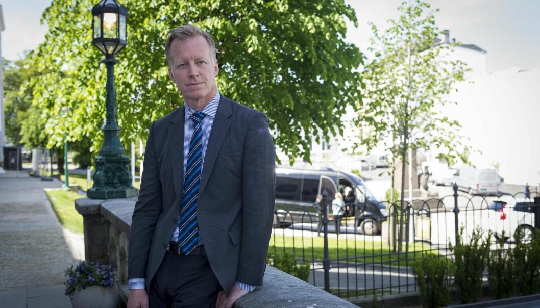 Curt Rice, rektor ved OsloMet, tillet ikkje skjenking av alkohol i arbeidstida. Foto: Tor Farstad
