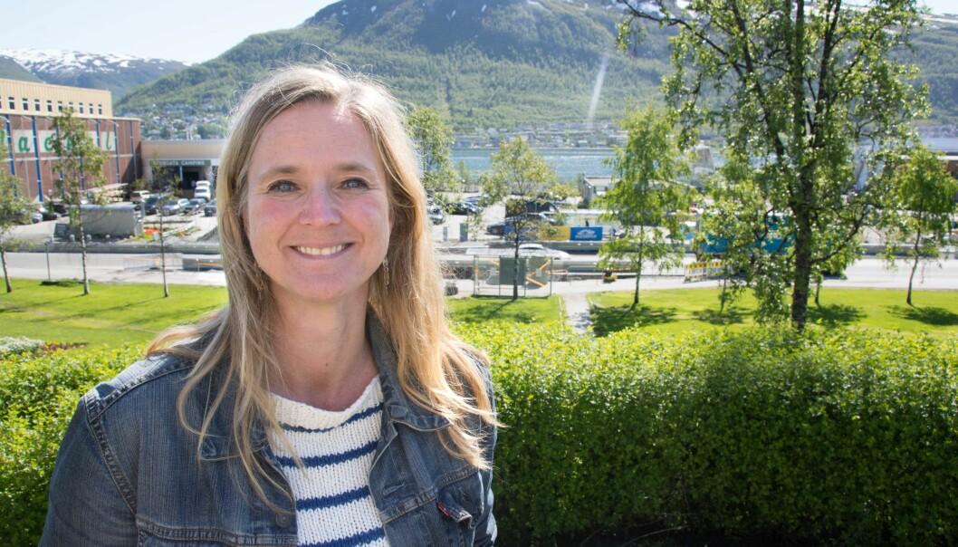 Direktør Lena Aarekol gleder seg til at Norges arktiske museum skal flytte hit, i et nybygg i Tromsø sentrum. Foto: Christel Slettli Hansen