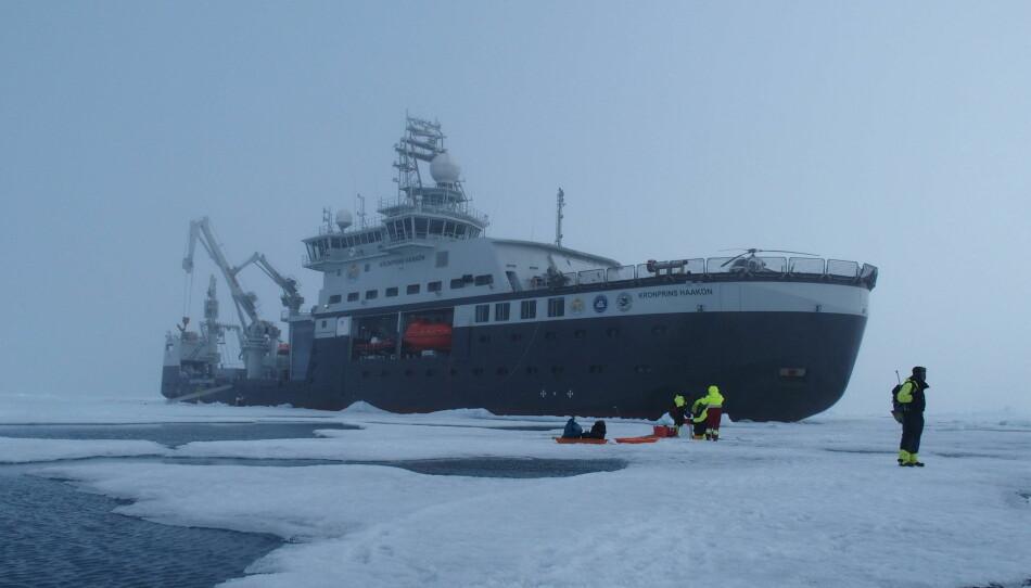 Arven etter Nansen var på fire tokt i 2018, tre av dem med forskningsskipet Kronprins Haakon. Her fra tokt nummer to i fjor. Foto: The Nansen Legacy