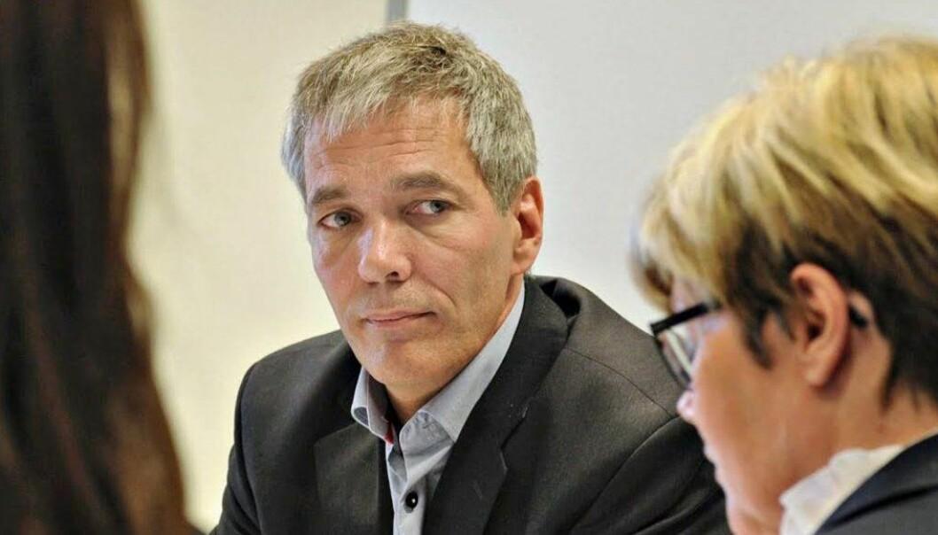 — Det skjer for mye her til at jeg vil kunne få gjort en god nok jobb som styreleder for Universitetet i Sørøst-Norge, sier Sverre Gotaas. Foto: Knut W. Hermansen, Laagendalsposten