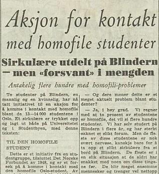 Senere lot Brantenberg og Anners seg intervjue av Dagbladet, vel å merke anonymt. Foto: Nasjonalbiblioteket.