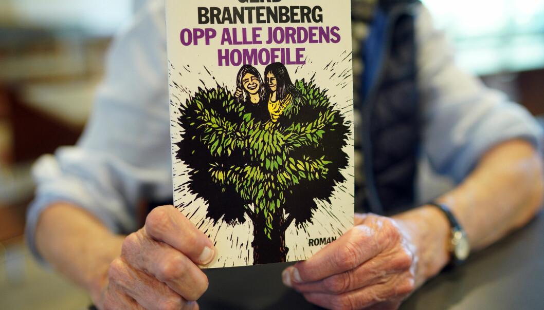 I 1973 debuterte Brantenberg med sin første bok, <i>Opp alle jordens homofile</i>, et år etter at hun sto frem som homofil i Danmark. Foto: Ketil Blom Haugstulen.