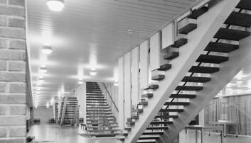 Korridoren i Velferdsbygget på Blindern, 1962. Foto: Leif Ørnelund/Oslo Museum