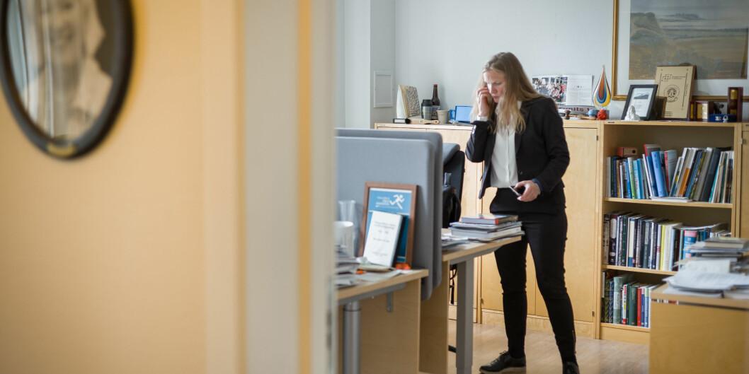 Torsdag var det styremøte på NMBU. Bildet viser avtroppende rektor, Mari Sundli Tveit. Foto: Siri Øverland Eriksen